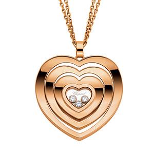 Pendentif Very Chopard Coeur Or Rose Diamants Mobiles Chopard