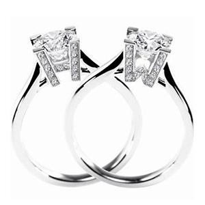 Solitaire H&W en Platine et Diamants de Harry Winston