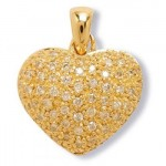 Coeur Or jaune et Diamants Grospiron. 1127€
