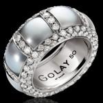 Bague Pearl2 en Or blanc, Perles et Diamants.