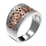 Bague Or Gris, Or Rose et Diamants. 620€