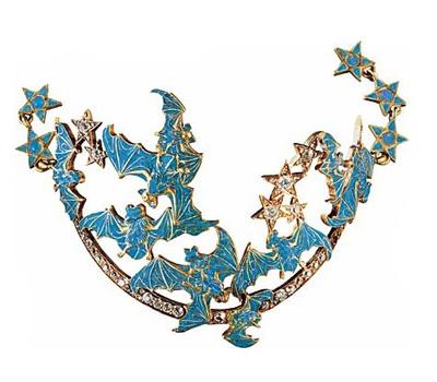 René Lalique: Bracelet de Cheville Chauve Souris.