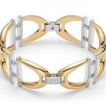 Bracelet collection Cheval, Or jaune, Blanc et Diamants.