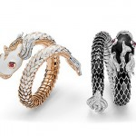 Collection Dragons, Or rose, blanc, Diamants, Rubis et émail.
