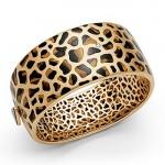 Bracelet Collection Léopard Or, Oeil de tigre, onyx et Diamants.