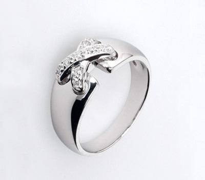 Bague Life ,Or blanc et Diamants - 395€