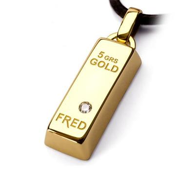 Lingot d'Or 5grammes avec Diamant.