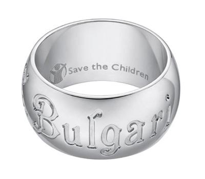 Bague Bulgari pour Save The Children.
