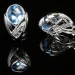 Boucles d'Oreilles Papillon Or Gris. 950€