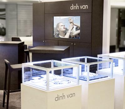 Nouvel écrin Dinh Van au Printemps du Luxe.