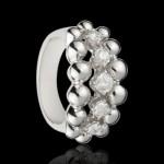 Bague or Blanc, diamants 3 rangs - 4190€
