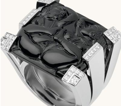 Bague Inde Mysterieuse Onyx - Cartier.
