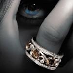 Bague Arabesque Diamants Bruns - Inedit Joaillerie.