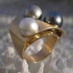 Bague Perles et Or - Origine Ateliers.