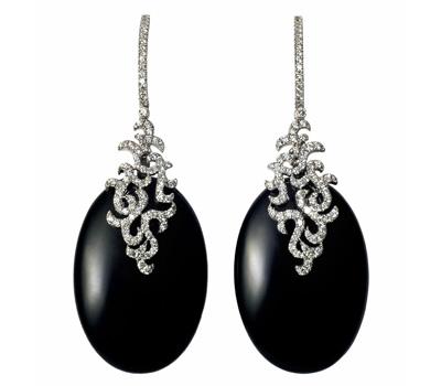 Boucles d'Oreilles Argan Onyx - Etername.