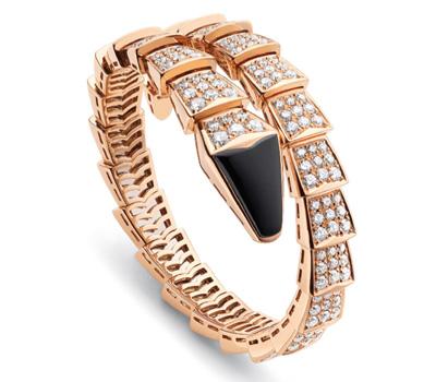 Bracelet Serpenti 1 rangs Or et Diamants - Bulgari.