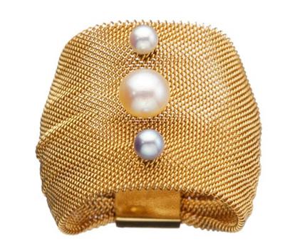 Bracelet Ciels 3 perles - Claudie Plé.