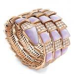 Bracelet Serpenti 3 rangs Or et Diamants - Bulgari.