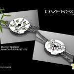 Bracelet Bambou/Fleurs des îles - Overso.