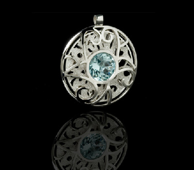 5e8d0066100 Pendentif Homme Aigue-Marine - Corrupt Design Jewelry - Made in ...