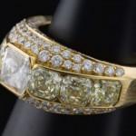Bague Diamant Princesse 20 780€ - Expertissim.