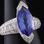 Bague Tanzanite et Diamants 4589€ - Expertissim.