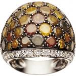 Bague Boule Panachées Icy Diamond - De Grisogono Joaillerie.