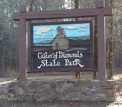 Crater of Diamonds State Park.