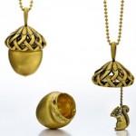 Pendentif Acorn - Wendy Brandes Jewelry.