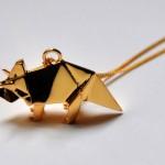 Pendentif Triceratops - Origami Jewellery.