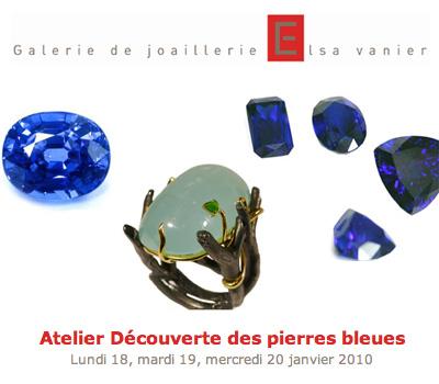 Ateliers Gemmologie - Galerie Elsa Vanier Joaillerie.