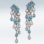 Boucles d'Oreilles Grand Bleu - Deborah Bressan Joaillerie.