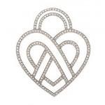 Pendentif Coeur Fil Or Blanc Poiray - 5600€.