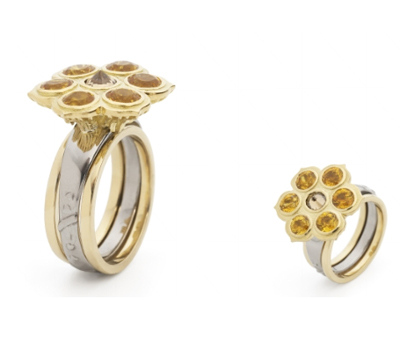 Bague Sunflower - Jasmine Alexander Jewelry.