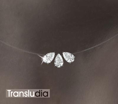 Collier Diamants Délicate - Transludia Joaillerie.