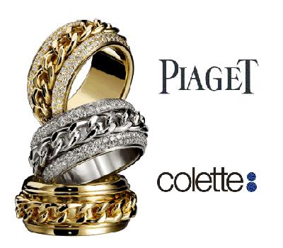 Bagues Possession Piaget chez Colette.