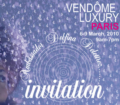 Vendôme Luxury Trade Show - Invitation.