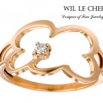Bague Nuage Or Jaune - Wil Le Cher Joaillerie.