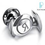 Boutons Manchettes Platine Philippe Tournaire pour Platinum.