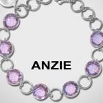Bracelet Argent Amethyste  - Anzie Jewelry.