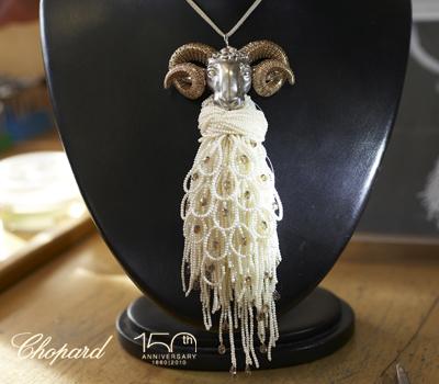 Collier belier animal world chopard joaillerie made in for Chopard animal world jewelry collection