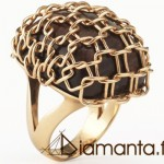 Bague Tricot Or Rose - Site Diamanta Joaillerie.