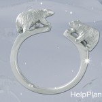 Bague Ours Banquise Help Planet - Nester Joaillerie.