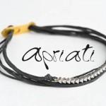 Bracelet Noir 7 Cords Mix - Apriati Bijoux.