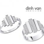 Bague Cadence - Dinh Van Or Gris et Diamants.