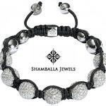 Bracelet Boule Or Gris et Diamants - Shamballa Jewels.
