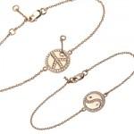 Bracelets Peace et Ying Yang - Bijoux Feidt Joaillerie.