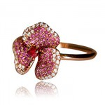 Bague Flower Saphirs Roses - AS29 Joaillerie.