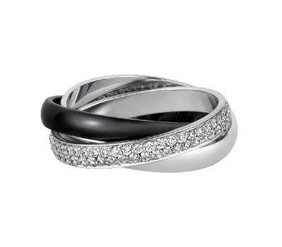 Bague Trinity Céramique Noire et Diamants - Cartier Joaillerie