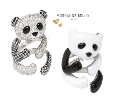 bagues panda morganne bello collection bijoux bestiaire made in joaillerie. Black Bedroom Furniture Sets. Home Design Ideas